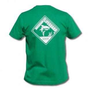 Tee shirt manches courtes Beach Lifeguard Vert