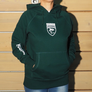 Sweat capuche Mixte Beach Lifeguard Vert Bouteille