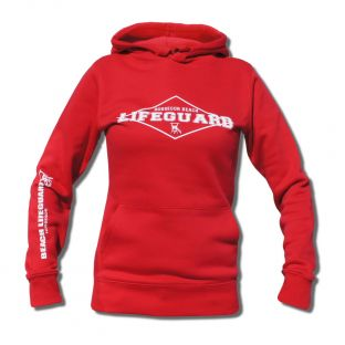 Sweat capuche Beach Lifeguard Rouge