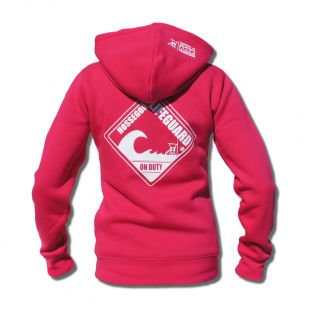 Sweat capuche zippé Beach Lifeguard Fuchsia