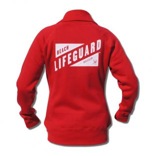 Sweat zippé Beach Lifeguard Rouge