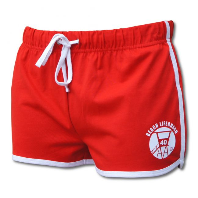 Short Vintage Femme Beach Lifeguard Rouge