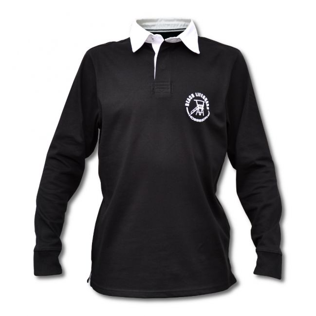 Polo « Rugby » Homme Beach Lifeguard Noir