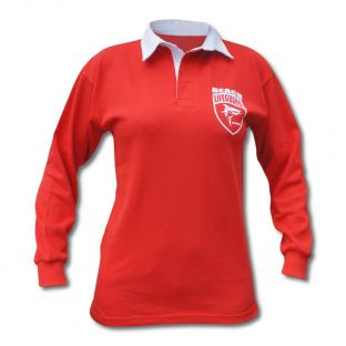 Polo Rugby Enfant Beach Lifeguard Rouge