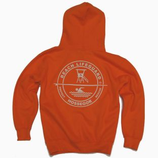 Sweat capuche Beach Lifeguard Orange