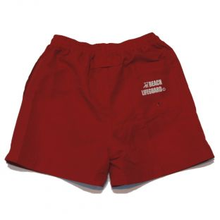 Short de bain Beach Lifeguard Rouge
