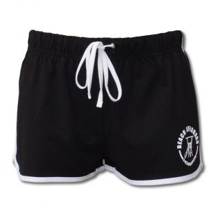 Short Vintage Fillette Beach Lifeguard Noir