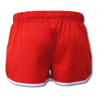 Short Vintage Fillette Beach Lifeguard Rouge