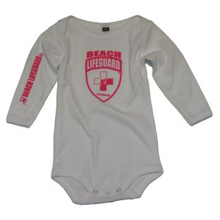 Body manches longues Beach Lifeguard Blanc