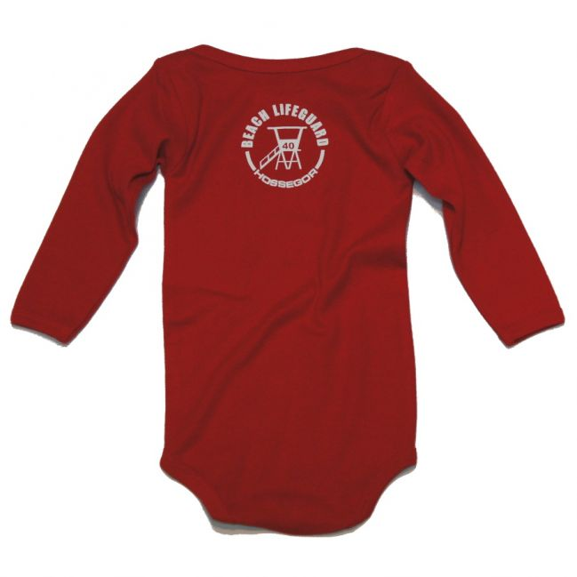Body manches longues Beach Lifeguard Rouge
