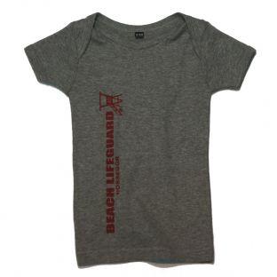Tee shirt manches courtes Beach Lifeguard Gris