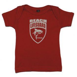 Tee shirt manches courtes Beach Lifeguard Rouge