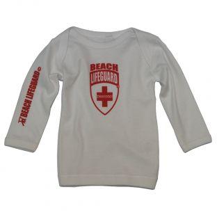 Tee shirt manches longues Beach Lifeguard Blanc