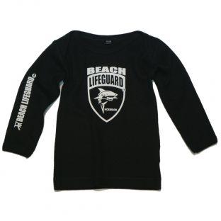 Tee shirt manches longues Beach Lifeguard Noir