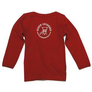 Tee shirt manches longues Beach Lifeguard Rouge