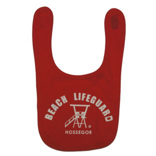 Bavoir Beach Lifeguard Rouge