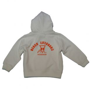 Sweat capuche zippé Beach Lifeguard Blanc
