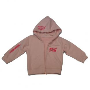 Sweat capuche zippé Beach Lifeguard Rose