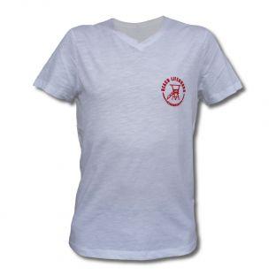 Tee Shirt Homme Col V Beach Lifeguard Blanc