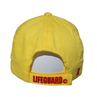 Casquette adulte Beach Lifeguard Jaune