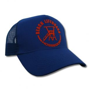 Casquette Trucker Beach Lifeguard Bleu