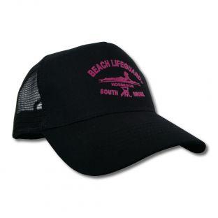 Casquette Trucker Beach Lifeguard Noir