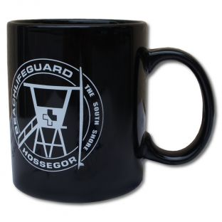 Mug Beach Lifeguard Noir