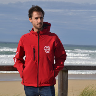 Veste Softshell Homme Beach Lifeguard Rouge