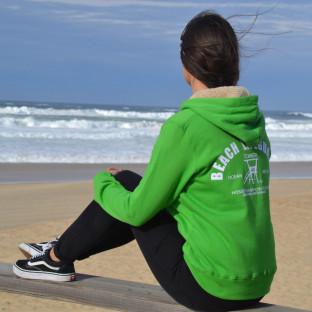 Veste capuche Sherpa mixte Beach Lifeguard Vert