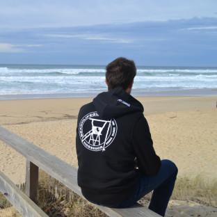 Veste capuche Sherpa mixte Beach Lifeguard Noir