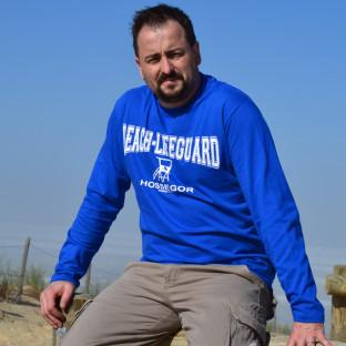 Tee Shirt manches longues Homme Beach Lifeguard Bleu