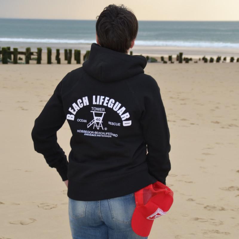 Sweat capuche Femme Beach Lifeguard Noir
