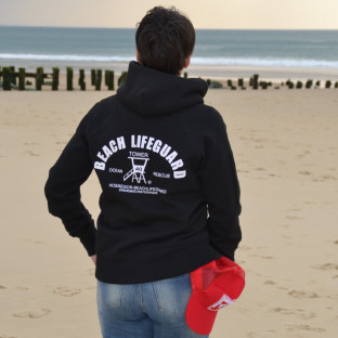 Sweat capuche Beach Lifeguard Noir