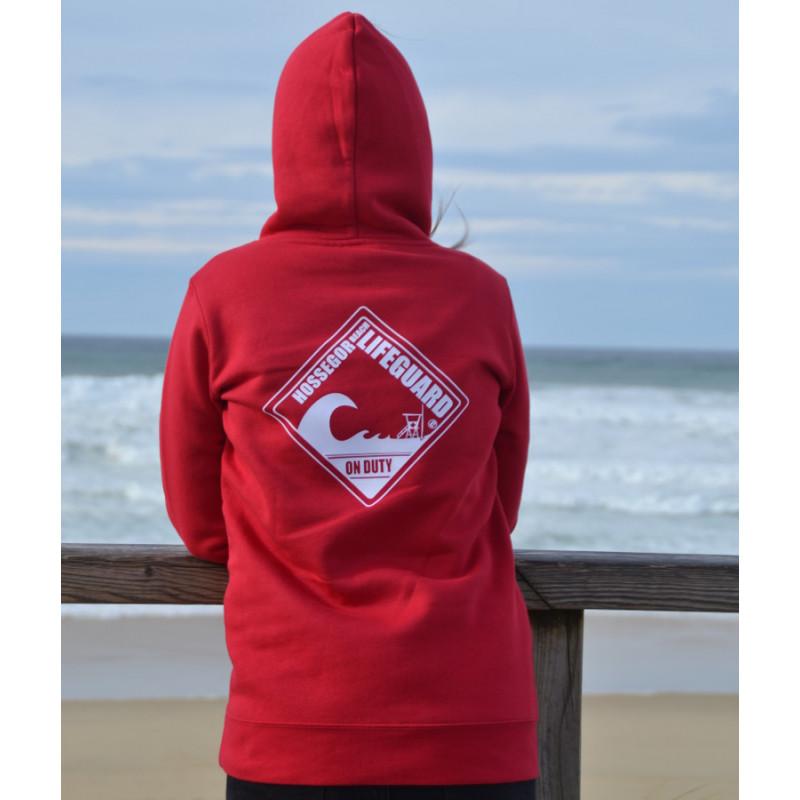 Sweat capuche Femme Beach Lifeguard Rouge