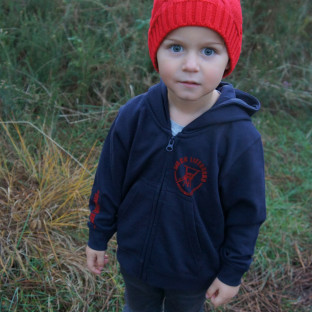 Sweat capuche zippé Enfant Beach Lifeguard Marine