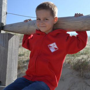 Sweat capuche zippé Enfant Beach Lifeguard Rouge