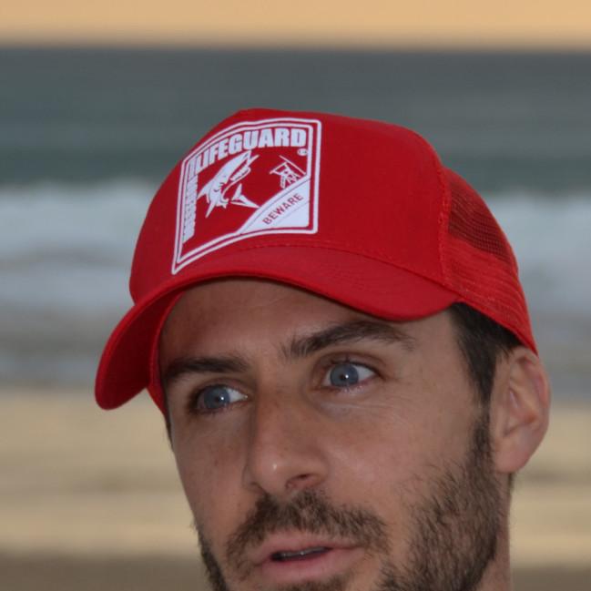 Casquette Trucker Beach Lifeguard Rouge