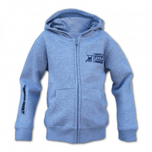 Sweat capuche zippé Enfant Beach Lifeguard Gris