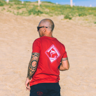 Tee shirt manches courtes Beach Lifeguard Rouge