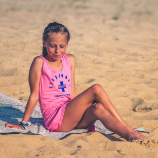 Robe débardeur Beach Lifeguard Rose