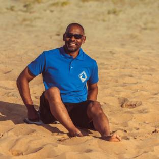 Polo classique Homme Beach Lifeguard Bleu
