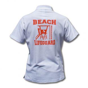Polo classique Beach Lifeguard Blanc