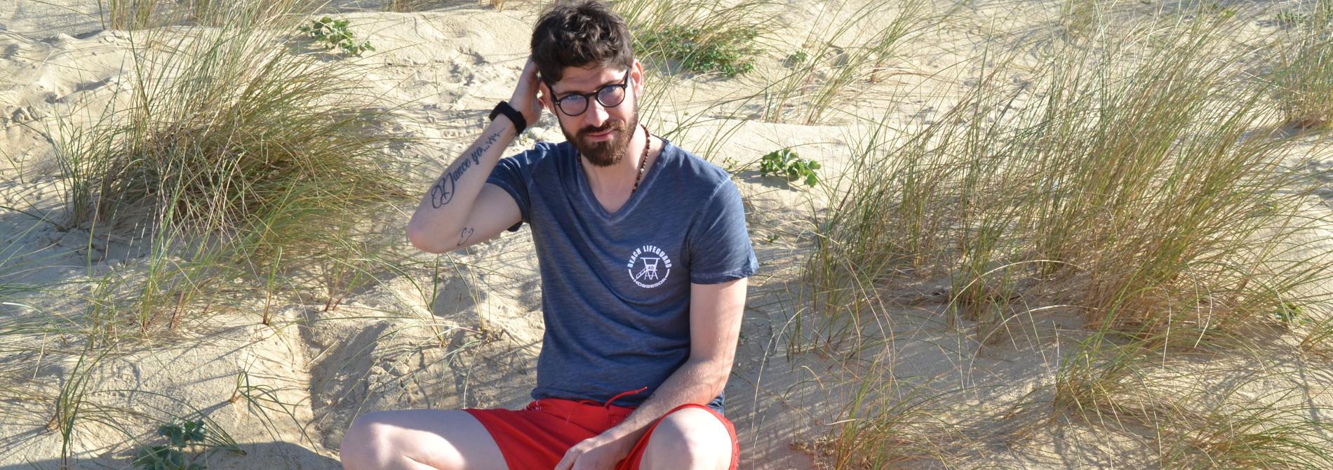Tee Shirt Homme Beach Lifeguard Hossegor